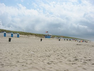 """Strand bei Paal 21, am Ortsrand von """"De Koog"""""""